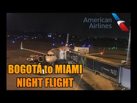 Night Flight To The US ! | Bogota Miami BOG-MIA| American Airlines | Airbus A319 | Full Flight (#39)