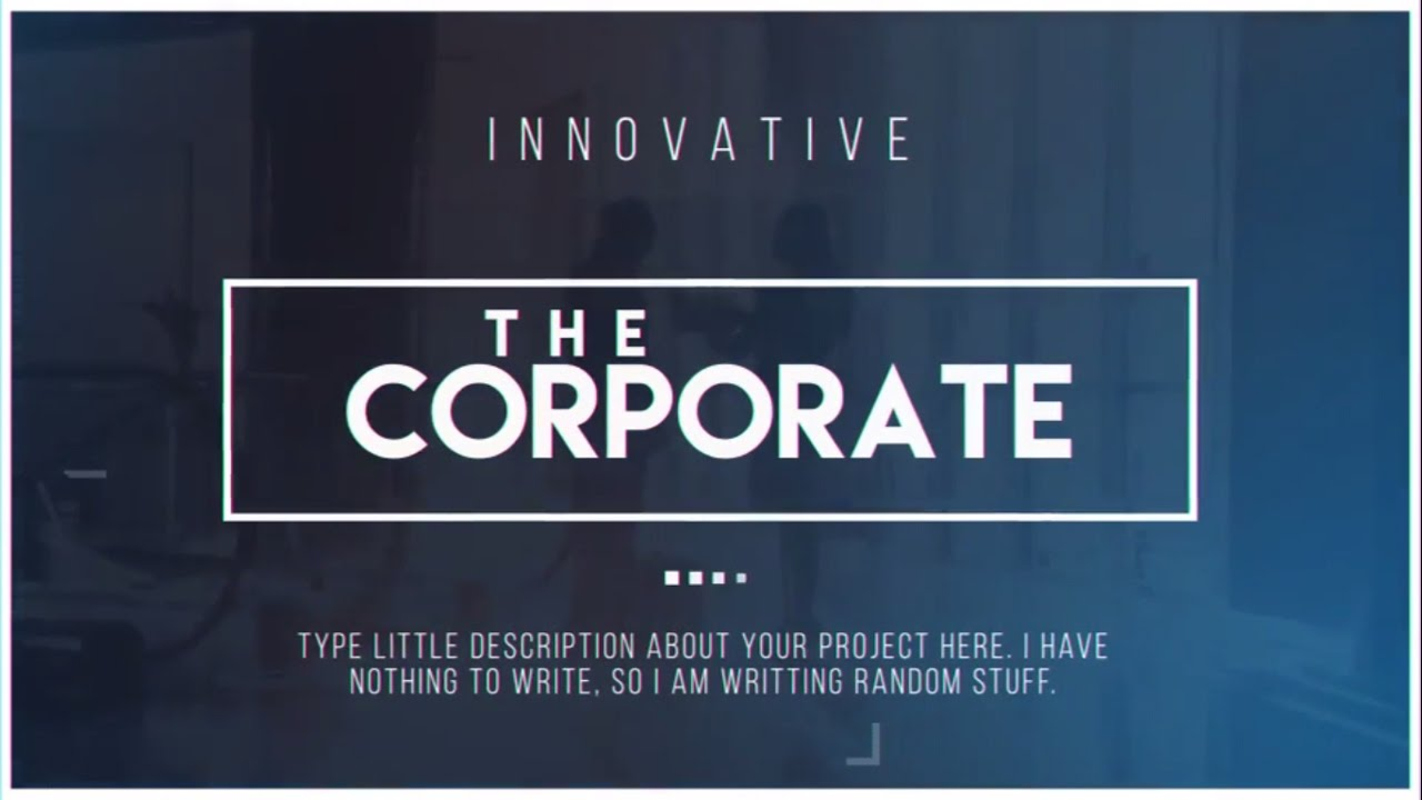complete corporate presentation video - after effects template, Powerpoint templates