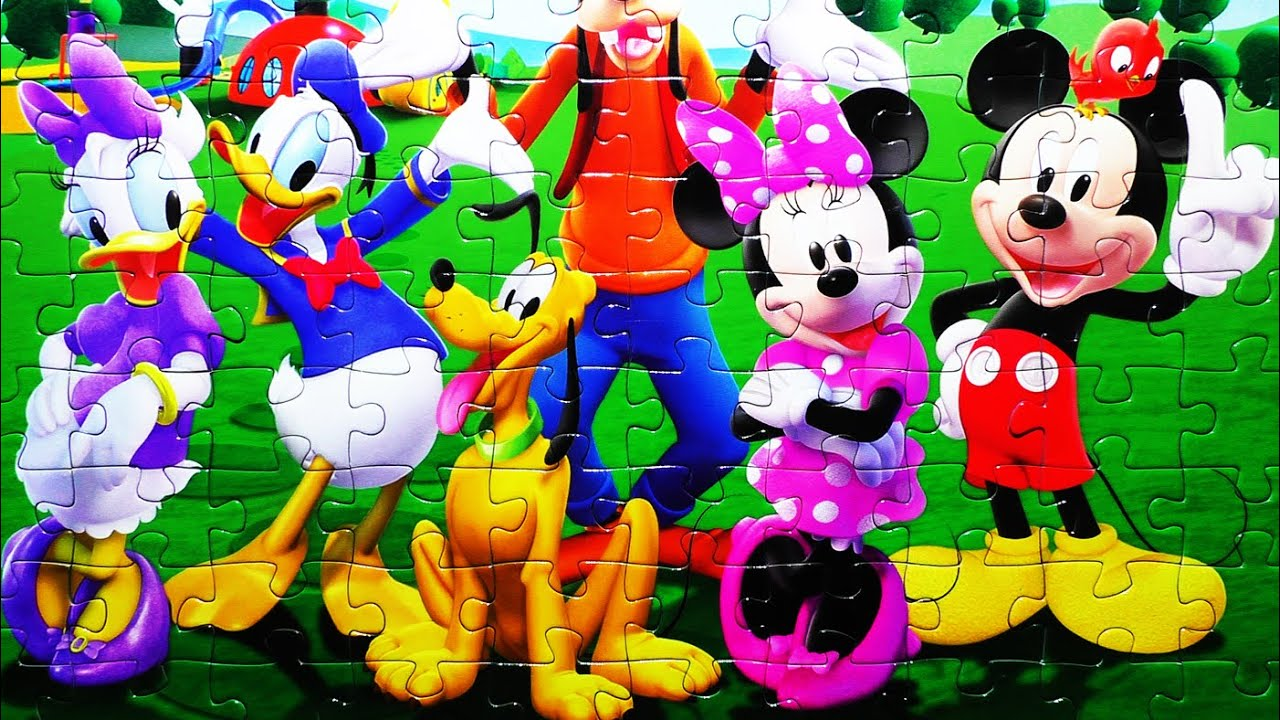 MICKEY MOUSE Disney Puzzle Games CLUBHOUSE Kids Toys Play