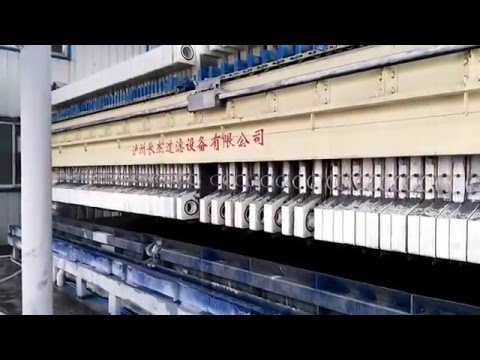 Phosphorite filtration experiment -24 hrs automatic running filter press www.chinachangjie.com