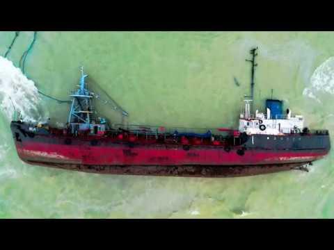 Ship Wreck in Odessa Ukraine 2019