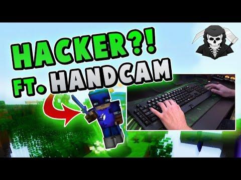 FIGHTING A HACKER w/ HANDCAM! ( Hypixel Skywars )