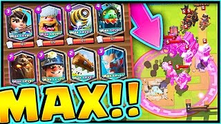ALL MAX LEGENDARIES! • INFINITE ELIXIR • CLASH ROYALE IS CHEATING!