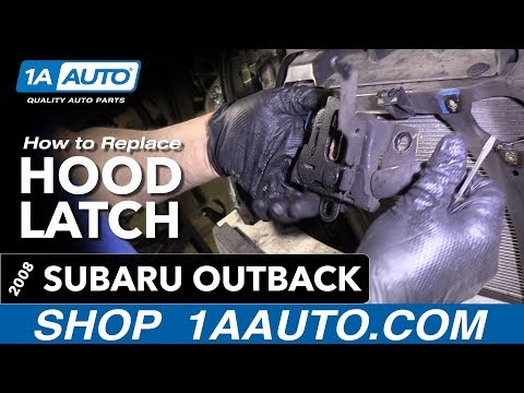 How to Replace Hood Latch 04-09 Subaru Outback