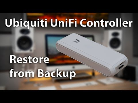 UniFi Cloud Key - Restore from Controller Backup - YouTube