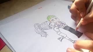 Ver Video De Cómo Dibujar Harley Quinn