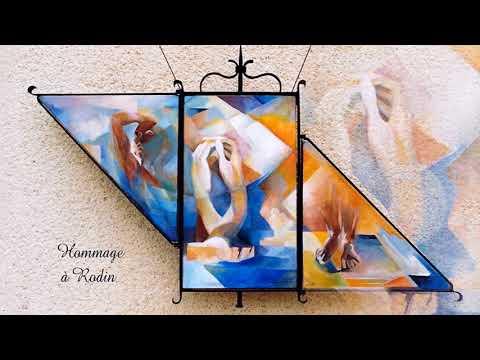 Art, magnifique peinture (Chantal Dislaire-Al) et belle musique zen (F. Amathy)