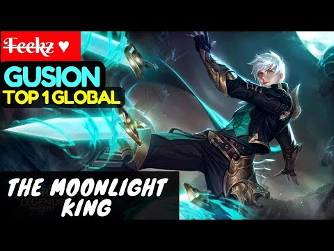 The Moonlight King [Top Global 1 Gusion] | F̶e̶e̶k̶z̶ ♥ Gusion Gameplay And Build #1 Mobile Legends