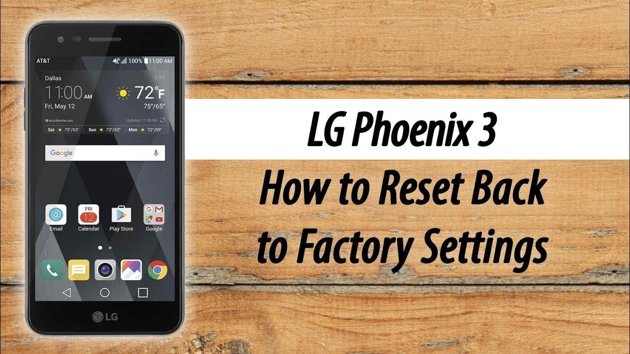 LG Phoenix 3 - How to Reset Back to Factory Settings - суперкиновезде рф