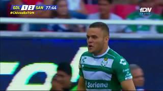 embeded bvideo Resumen Chivas 1-2 Santos - J4 Apertura 2018
