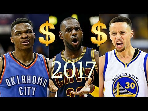 Top 10 Highest Paid NBA Players 17-18 Season!