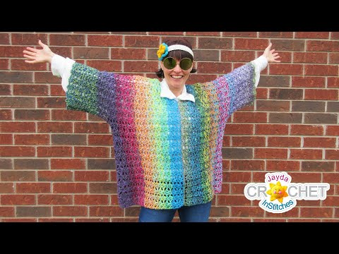 groovy-poncho-w/-sleeves-using-lion-brand-mandala-yarn---crochet-tutorial