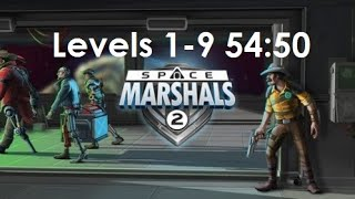 Space Marshals 2 levels 1-9 any% speedrun 54:50 [Android / Touchscreen]
