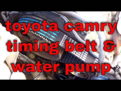 timing belt & water pump replacement '96-'02 Toyota Camry 2.2L 5S-FE √ Fix it Angel
