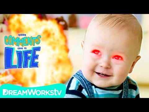 Adorable Laser Baby + Craziest Family Members EVER | YOUR COMMENTS COME TO LIFE!