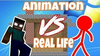Animation vs Monster School Compilation : Animation vs Real Life  - Minecraft Animation - AVM SHORTS
