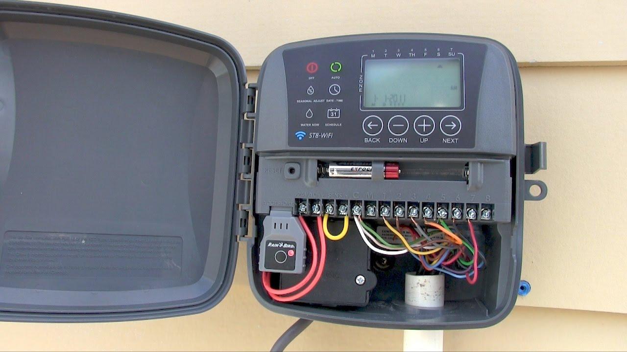 Easy! RAIN BIRD ST8o Smart WiFi Timer  sprinkler controller installation & wiring  YouTube