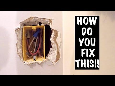 HOW TO REPAIR OVERCUT ELECTRICAL BOX (DRYWALL)