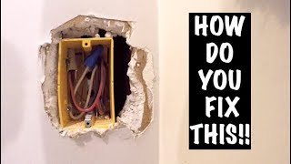 HOW TO REPAIR OVERCUT ELECTRICAL BOX (DRYWALL)
