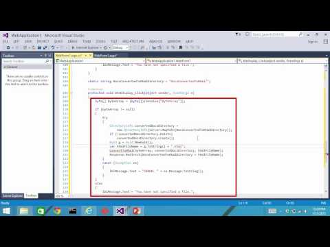 ASP NET Display DOCX