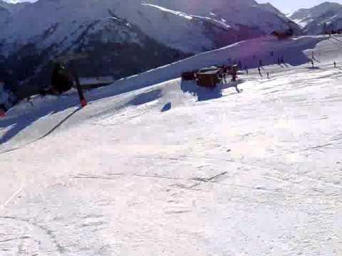 0-100 km/h in 10 sec. auf Ski !!! in St. Anton am Arlberg - Himmeleck