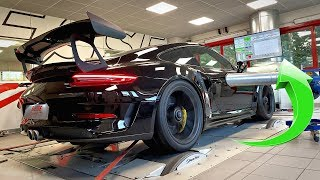 Porsche 991.2 GT3 RS with FULL Akrapovic Titanium SCREAMING on Dyno! *Exhaust Glowing Red Hot*