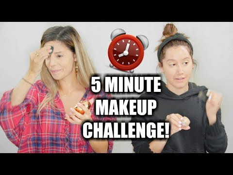 5 MINUTE MAKEUP CHALLENGE WITH ASHLEY TISDALE!