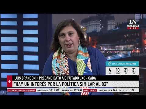 Paula Oliveto y Luis Brandoni en El diario de Leuco