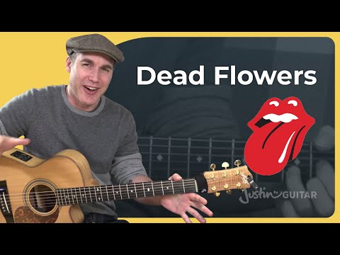 How to play Dead Flowers by The Rolling Stones - Guitar Lesson Tutorial (ST-390)