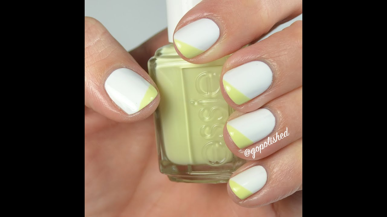 Nail Tutorial: Angled French Tip - YouTube