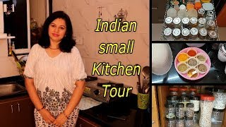 Small Indian Kitchen Tour 2018 || non modular small indian kitchen || Indian youtuber Neelam