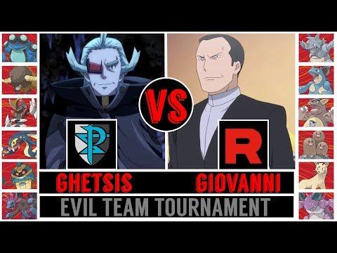 Team Plasma vs. Team Rocket (Ghetsis vs. Giovanni) - Evil Team Tournament/Semifinal