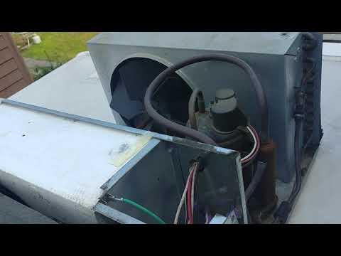 RV roof air conditioner draining into RV