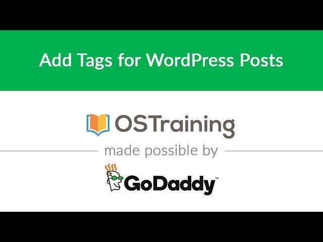 WordPress Beginner Tutorial #11: Add Tags for WordPress Posts