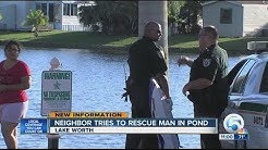 Man drowns in a pond in Lake Worth at Plantation Mobile Home Park