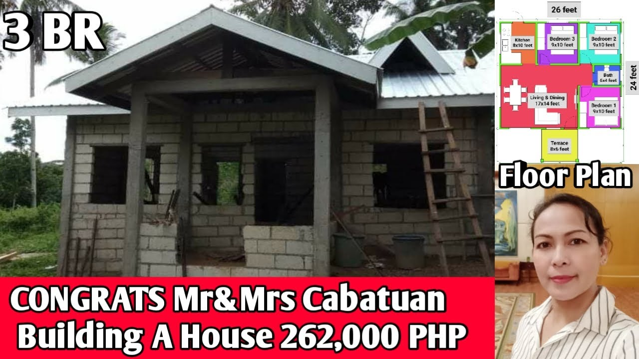 OFW SIMPLE HOUSE 🏡,Building A House 262,000 PHP,Congrats Mr&Mrs Cabatuan Dubai Ofw Bohol Philippines