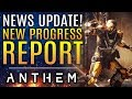 Anthem - New Updates and New Progress Report from Bioware!