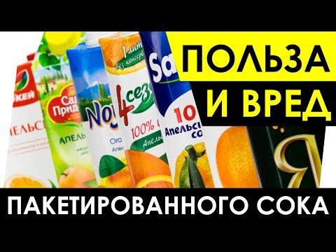 Пакетированный сок - Польза и вред.  Чем полезен? Чем вреден сок?