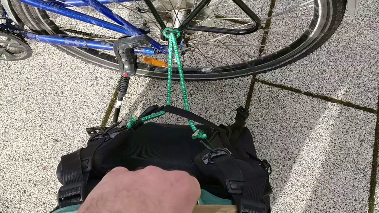 How To Attach Almost Any Backpack Your Bicycle Rack