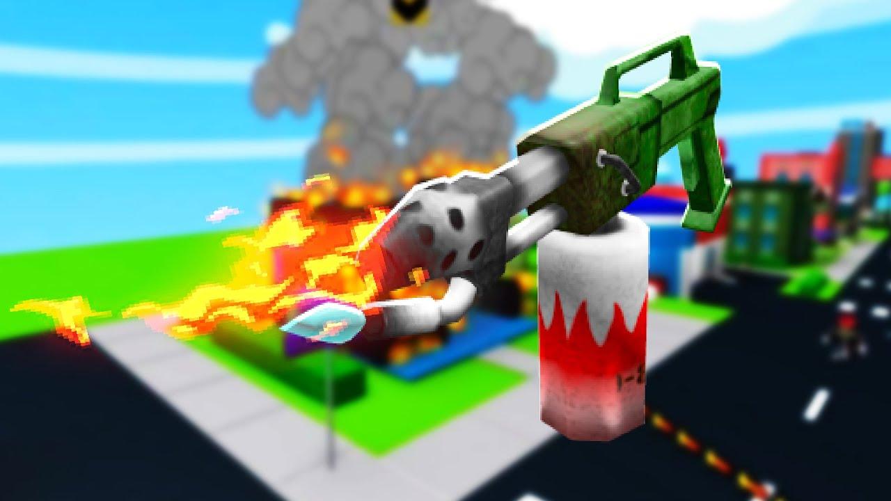 BURNING Roblox Down in Flamethrower Simulator   JeromeASF Roblox
