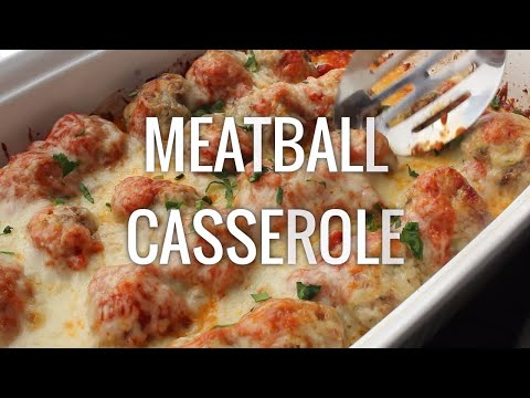 Low Carb Meatball Casserole Recipe (Keto Friendly)