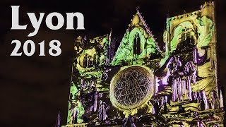 Fête des Lumières à Lyon – La cathédrale Saint-Jean – Décembre 2018