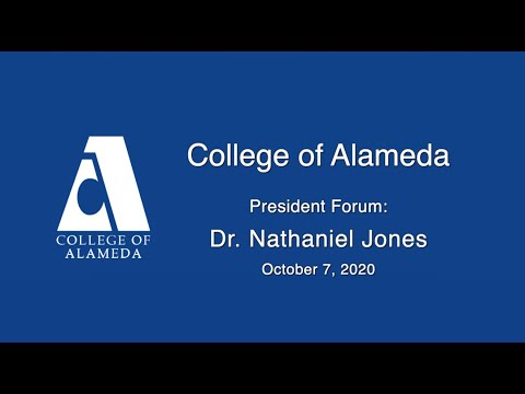 College of Alameda President finalist: Dr. Nathaniel Jones