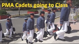 PMA Cadets Going to Class