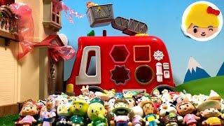 アンパンマン はたらくくるま 火事だー!!ギューギューDXパズル消防車ににげろー!!何人入るかな? ❤ 人形 キャラクター おもちゃ アニメ トイ キッズ animation anpanman thumbnail