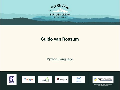 Guido van Rossum - Python Language - PyCon 2016