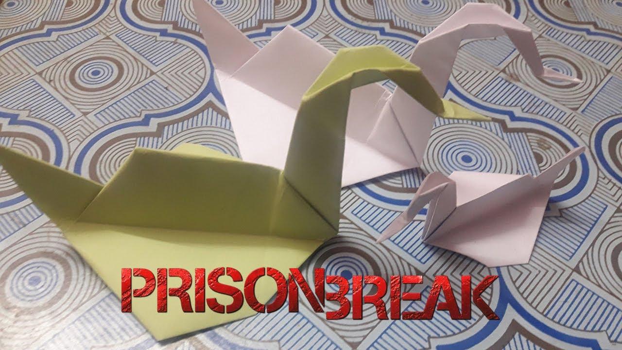 Origami Ente aus