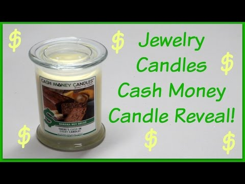 Jewelry Candles Cash Money Reveal - Banana Nut Bread Candle!