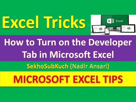 how to add the developer tab in excel