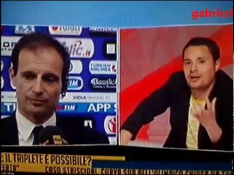 Fiorentina Juventus 0 3 - Allegri risponde con umilta' a Rai Sport